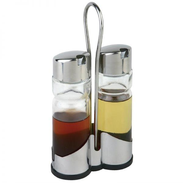 Öl- und Essigflaschenset mit Ständer