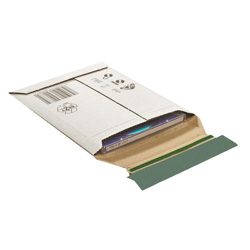 100 Stück: 190x145x0-25 mm CD-Verpackung, weiß