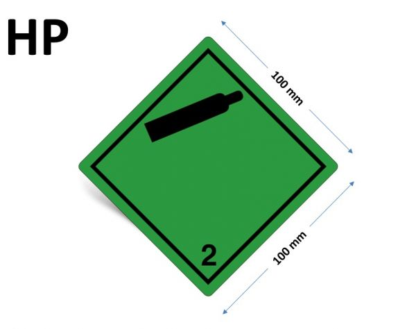 1000 Stück Gefahrgut-Kennzeichnung Klasse 2.2, ohne Text