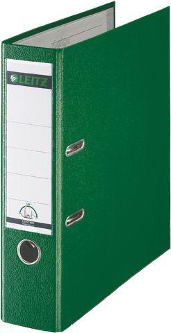 Ordner Plastik, PP-kasch., Einsteckrückenschild, A4, 80mm, grün