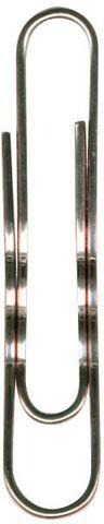 Aktenklammer, rund, gewellt, Metall, verkupfert, L: 77 mm