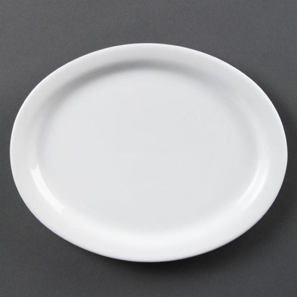 Olympia Whiteware ovale Servierteller 25cm