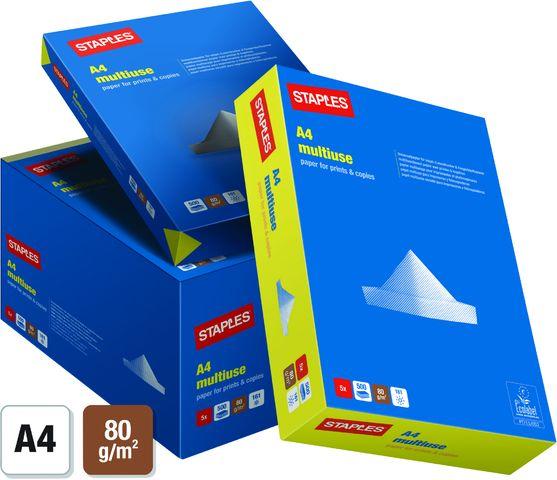 Multifunktionspapier multiuse, A4, 80g/m², weiß, 5x500Bl.
