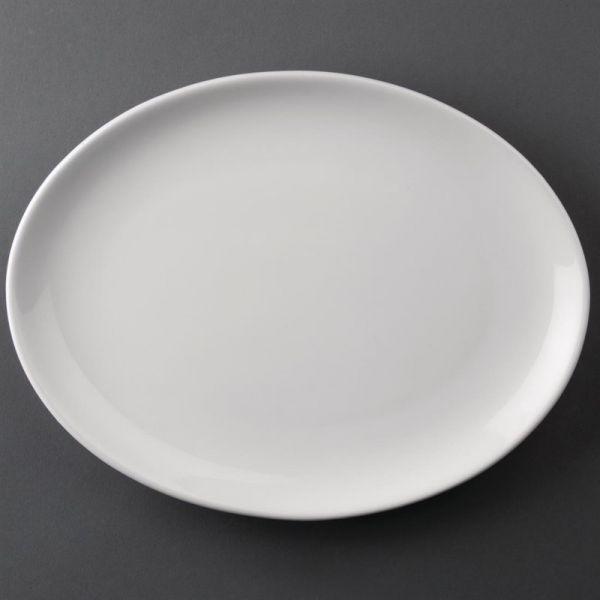 Athena Hotelware ovale Coupeteller 25,4cm; Inhalt: 12 Stück