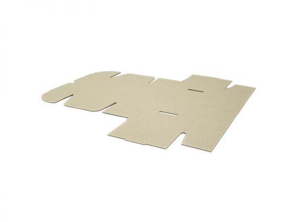 10 Stück: 220x160x90 mm einwellige Faltschachtel