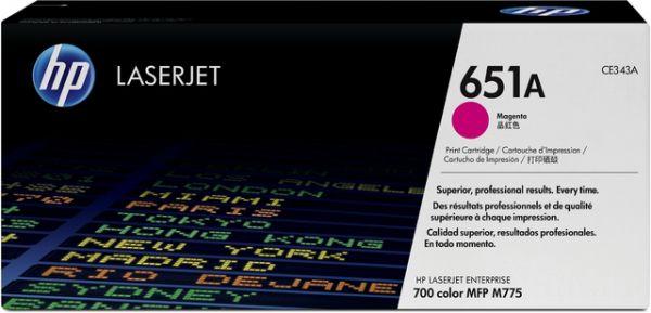 Toner, 651A, CE343A, original, magenta, 16.000 Seiten