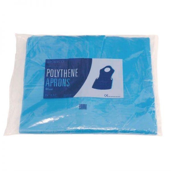 Einwegschürze aus Polyethylen blau 14,5 Mikron (100 Stück)