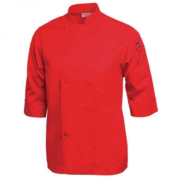 Chef Works Unisex Kochjacke rot XS