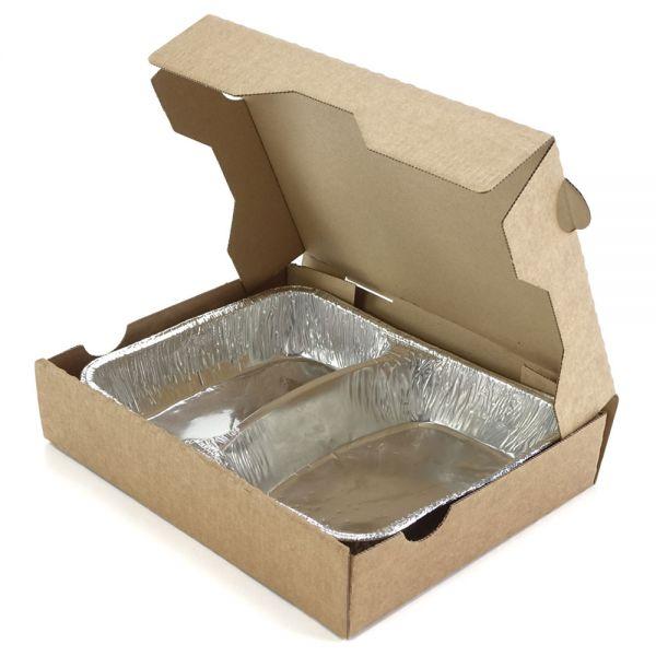 100 Stück: 232x180x47 mm Box für Menüschale