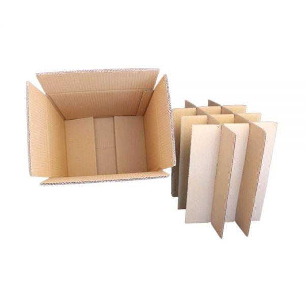 10 Stück: 320x240x310 mm 12er Export-Flaschenkarton ohne Gefache