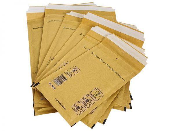 200 Luftpolster-Versandtaschen braun 180x165 mm CD