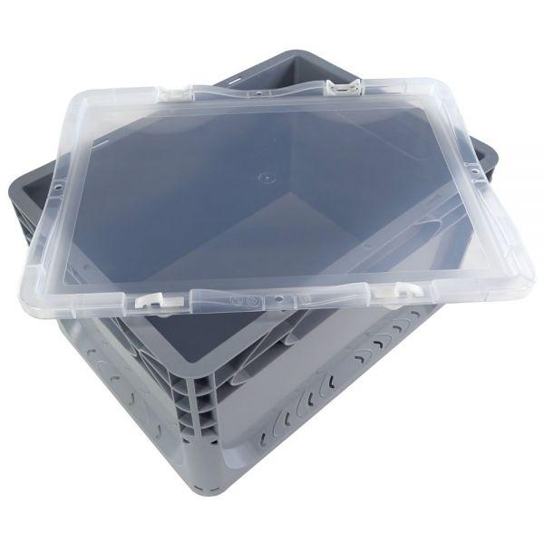 400x300 mm Scharnierdeckel transparent für Euronorm Behälter