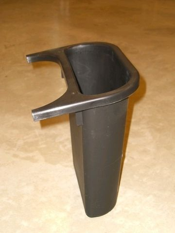 Abfalleinsatz, PE, 4,5 l, 265 x 120 x 295 mm, schwarz