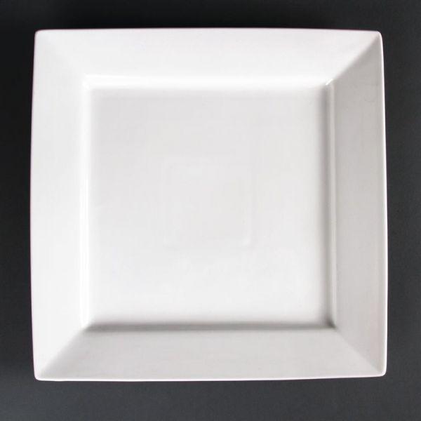 Lumina quadratische Teller mit breitem Rand 29,5cm