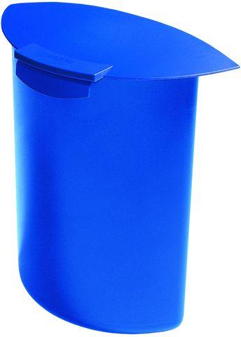 Abfalleinsatz MOON, PP, Klappdeckel, 6 l, blau