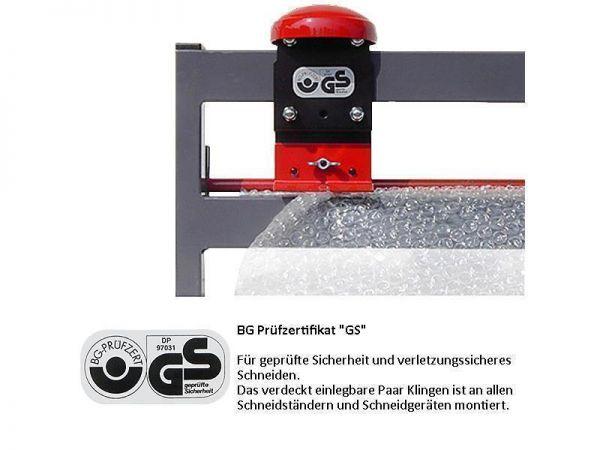 Doppelschneidständer für Großrollen 125 cm Fahrbar