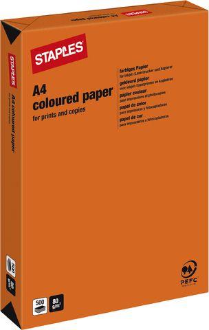 Multifunktionspapier, A4, 80g/m², orange, intensiv