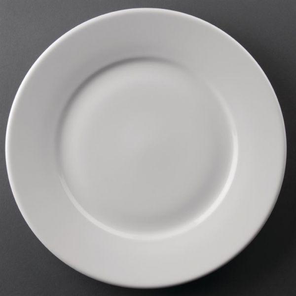 Athena Hotelware runde Teller mit breitem Rand 25,4cm; Inhalt: 12 Stück