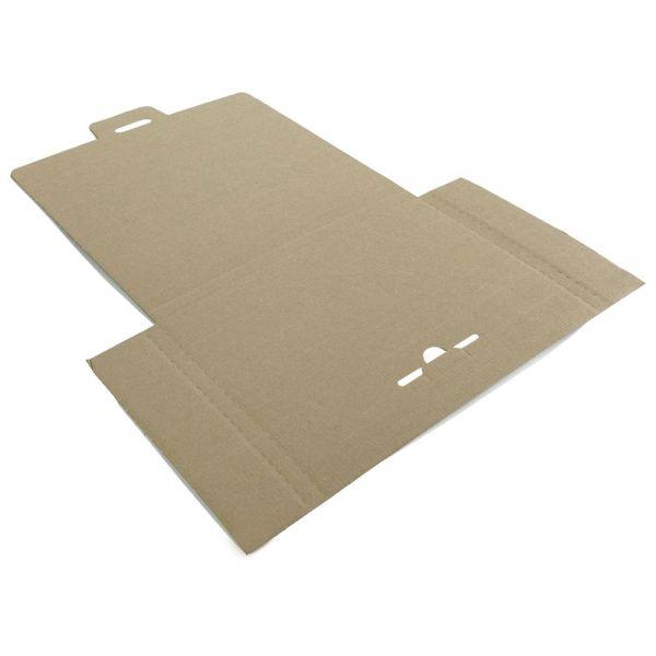 10 Stück: 345x245x20 mm Großbriefkarton (Außenmaß), weiß