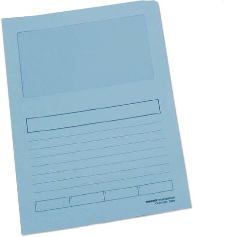 Aktendeckel, Papier, 120 g/m², A4, 22 x 31 cm, blau, pastell