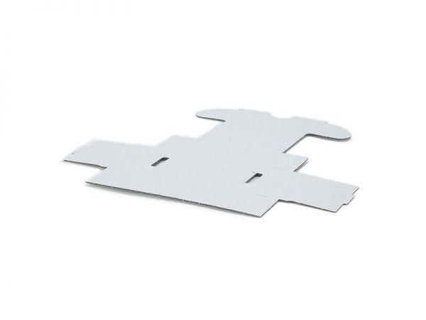 50 Stück: 90x60x40 mm Visitenkarten Schachtel weiß